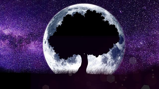 月が落ちる