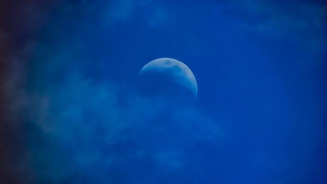 月が欠ける