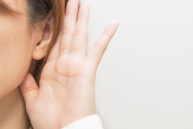 耳が聞こえない