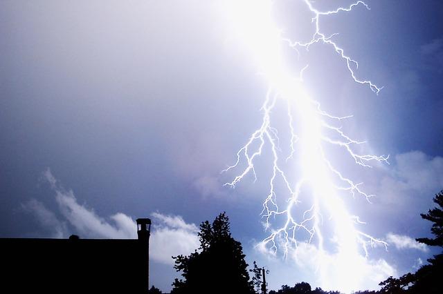 雷が自分に落ちる